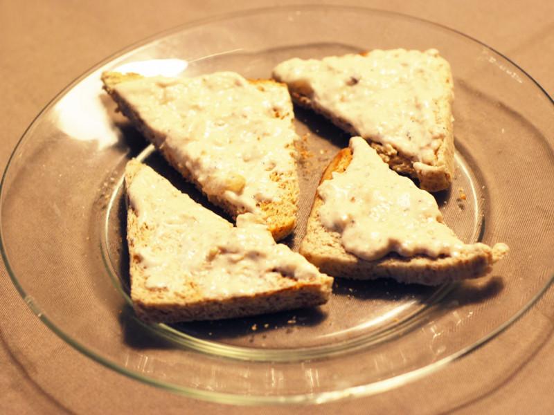 Toasts à la rillette de poulet